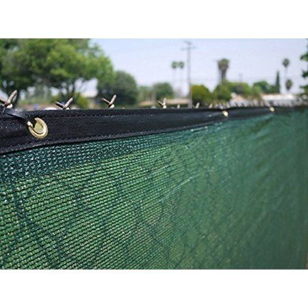 Aleko Privacy Mesh Fabric Screen Fence With Grommets 6 X 150 Feet Dark Green Walmart Com Privacy Fence Screen Fence Screening Fence Windscreen