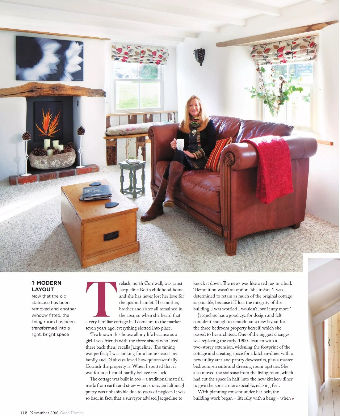 Light airy but cosy snug or lounge, pale carpet @goodhomes November 2016 Good Homes magazine