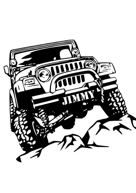 Personalized Name Jeep Wrangler Wall Decal Art By Parmacornhole