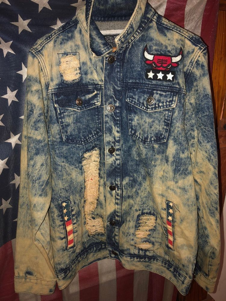 551cac9189f8 Diamond Stash Michael Jordan Denim Jacket  fashion  clothing  shoes   accessories  mensclothing  coatsjackets (ebay link)