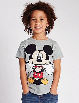 39e34b43 Mickey Mouse Face T-Shirt (1-7 Years) | mck | Shirts, Mickey mouse ...