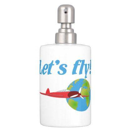 Let\u0027s fly bathroom set - personalize cyo diy design unique