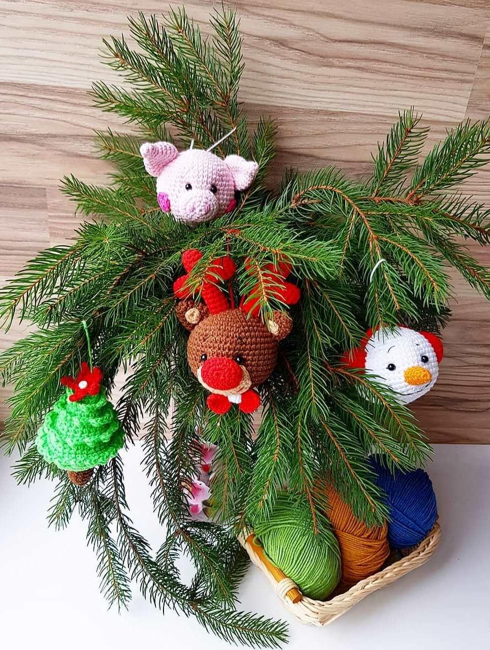 игрушки на елку крючком схемыамигуруми амигуруми вязаныеигрушки