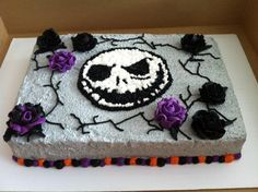 Homemade Nightmare Before Christmas Birthday Sheet Cake