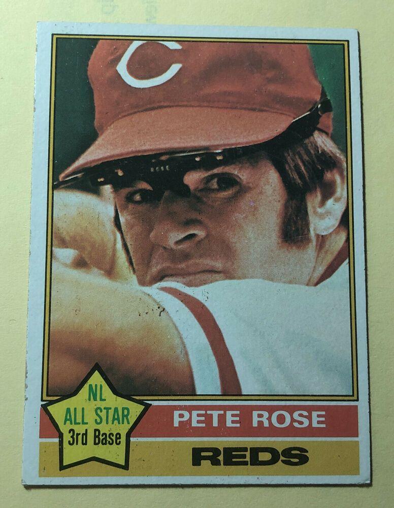 1976 topps pete rose 240 cincinnati reds star excellent