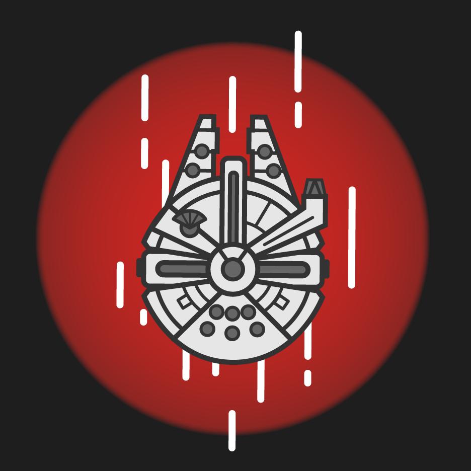 Millenium Falcon Vector Art On Behance Star Wars Stickers Star Wars Tattoo Star Wars Fan Art