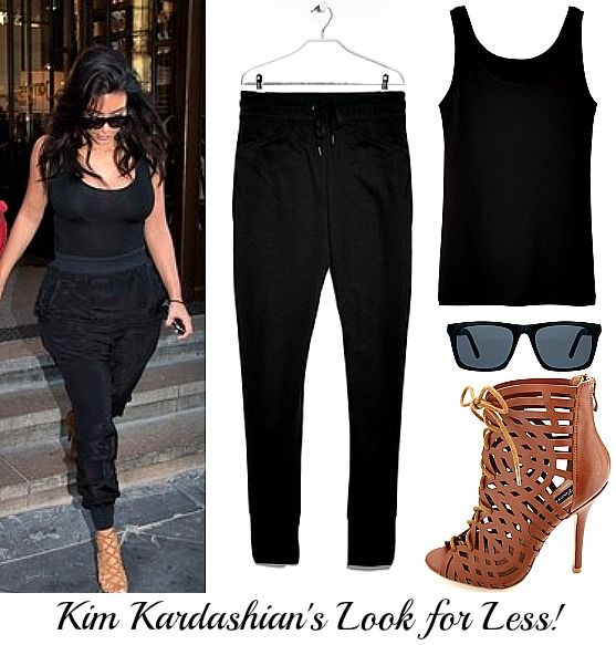 Kim Kardashian 39 S Jogger Pants Look For Less Styled For