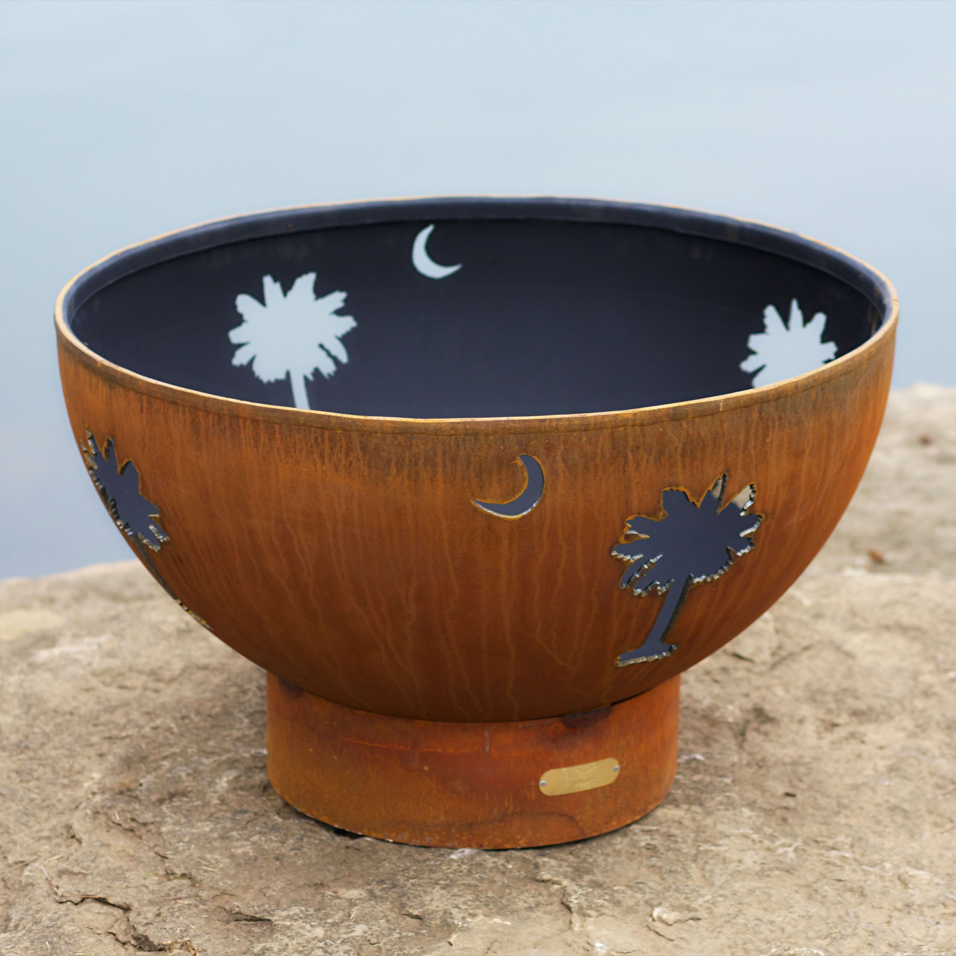 Fire Pit Art Tropical Moon Fire Pit | from hayneedle.com