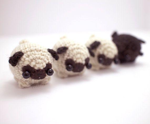 Amigurumi pug crochet pattern - amigurumi dog pattern | Patrones ... | 472x570