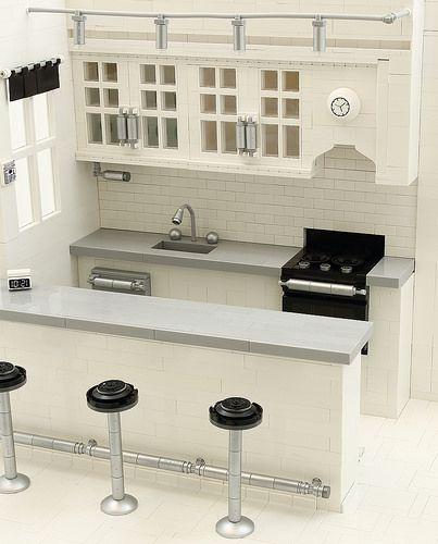 Best A Brick Built Home Incredible Lego Modern Kitchen Lego 400 x 300