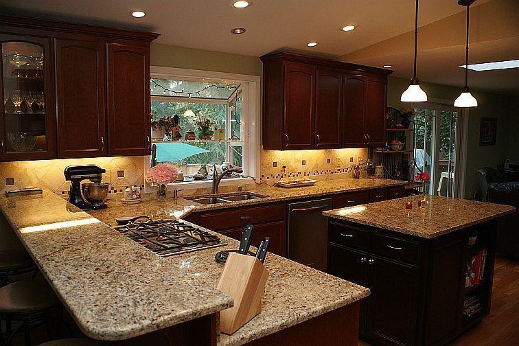 Kitchens With Venetian Gold Granite Google Search Dark