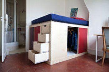 optez pour un lit d co deux en un avec dressing int gr m lissa mobimier lit dressing et. Black Bedroom Furniture Sets. Home Design Ideas
