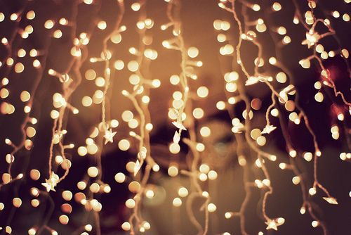 Lights on string dangling make an evening night beautiful ...