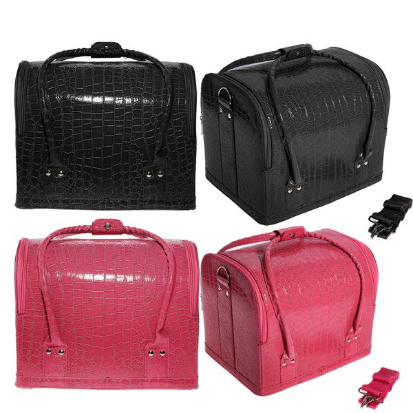 Croc Four Level Makeup Vanity Case Nail Art Cosmetic Storage Box ...