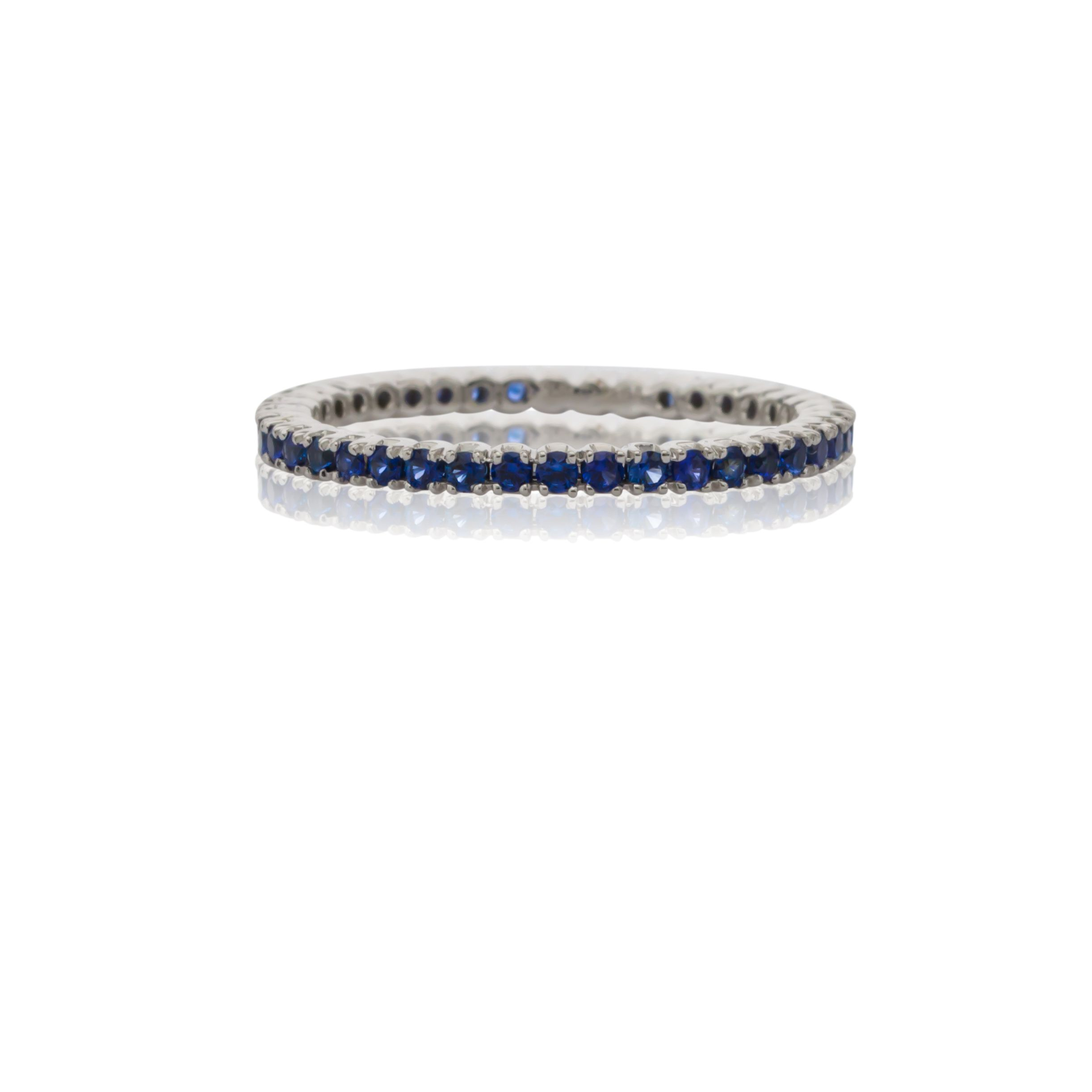 and stacking strand ring pointe a rainbow sapphire band stone onbody products eternity pave bands