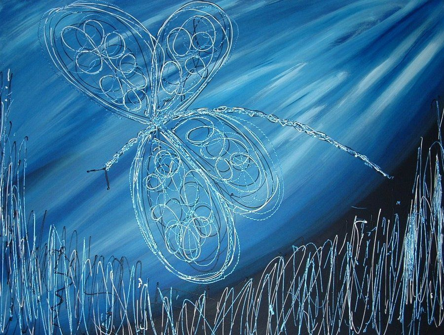 blue dragonfly by ~vengfulwolf on deviantART
