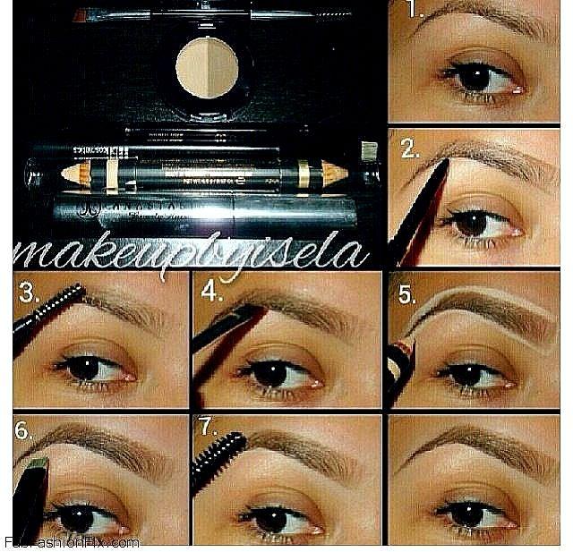 Extrêmement Base maquillage: Le maquillage des sourcils | Sourcils, Tuto et  TS81
