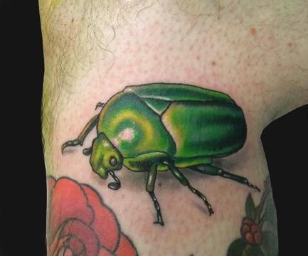 June bug tattoo for my baby | Tattoo ideas | Beetle tattoo