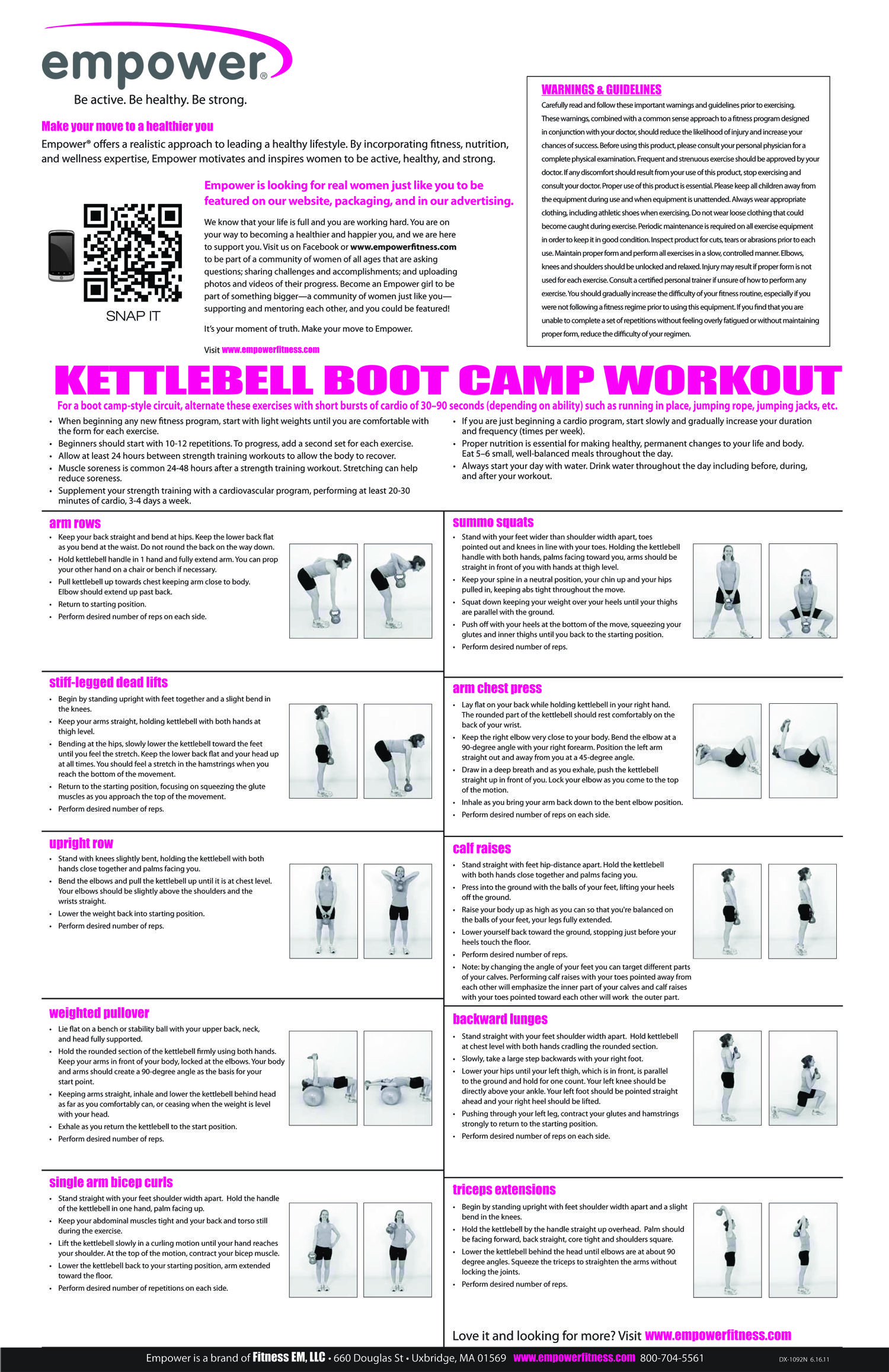 Empower Kettlebell Boot Camp Workout | How it Works | Gym ...