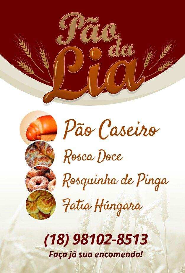 Flyer Pão da Lia