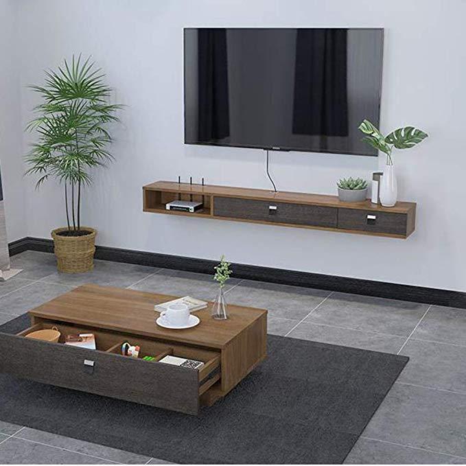 Amazon Com Tv Cabinet Shelf Set Top Box Wifi Router Shelf Tv Rack Wall Mounted Tv Cabinet Wall Sh In 2020 Living Room Design Modern Living Room Tv Wall Tv Room Design #wall #mounted #tv #living #room