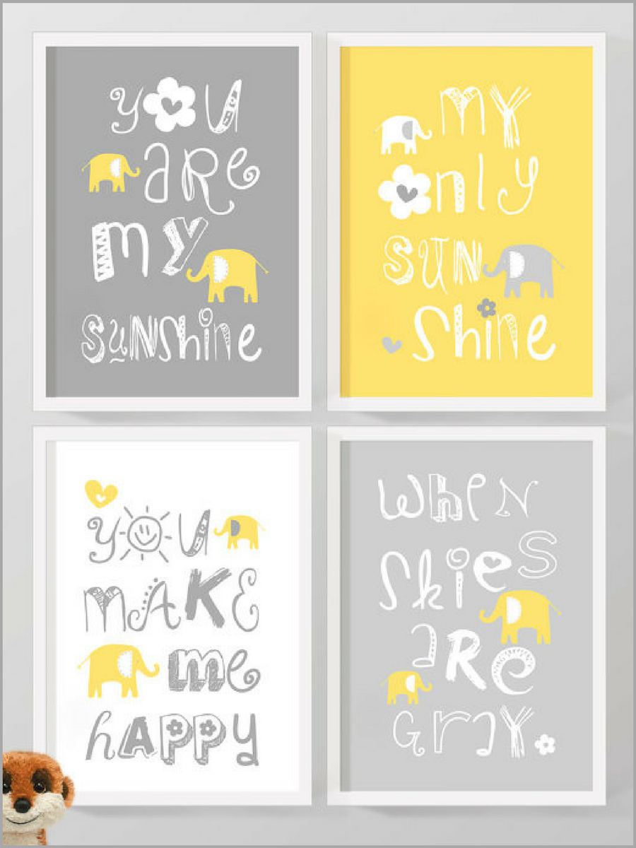 You are my sunshine nursery wall quote. #affiliate #baby #decor ...