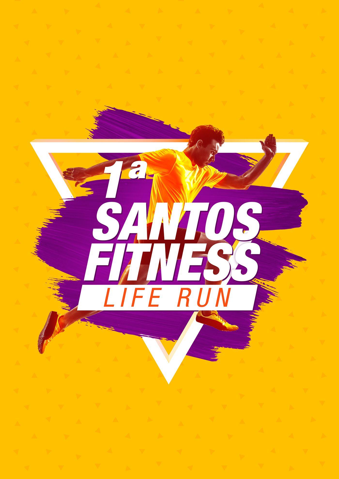 Santos Fitness Life Run On Behance Adv Pinterest