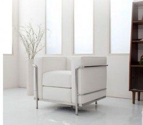 Moderne Fauteuil Wit.Le Corbusier Lc2 Fauteuil Wit La37 Huisinrichting Bank