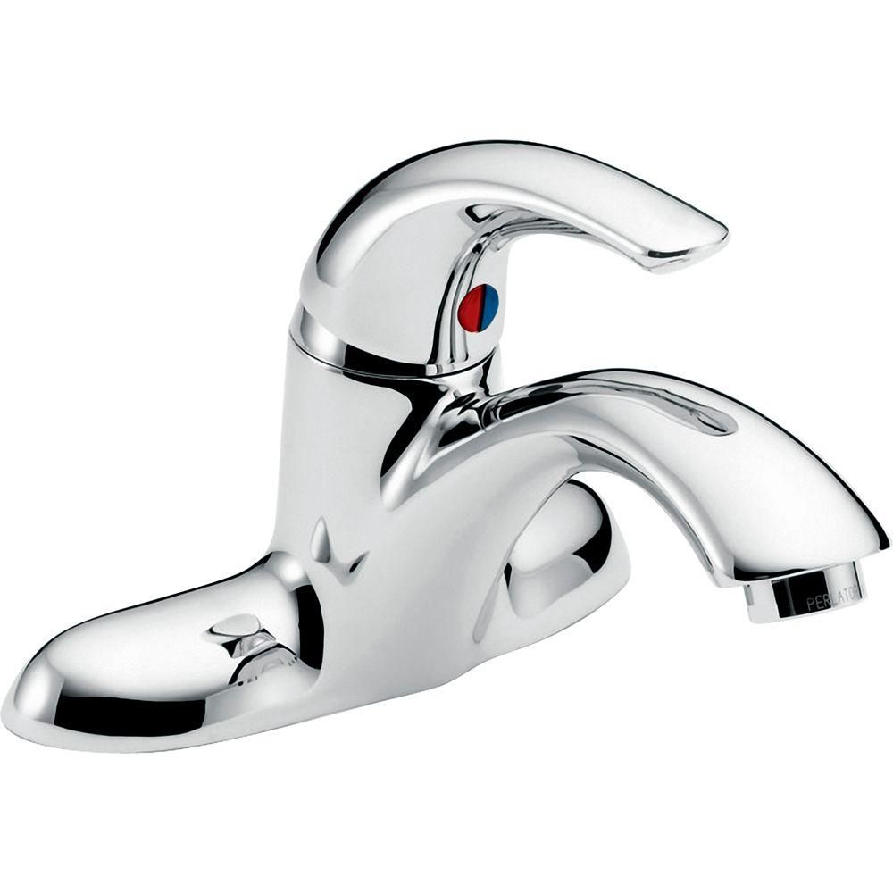 Charmant Delta Commercial 4 In. Single Handle Low Arc Bathroom Faucet In Chrome  (Grey)