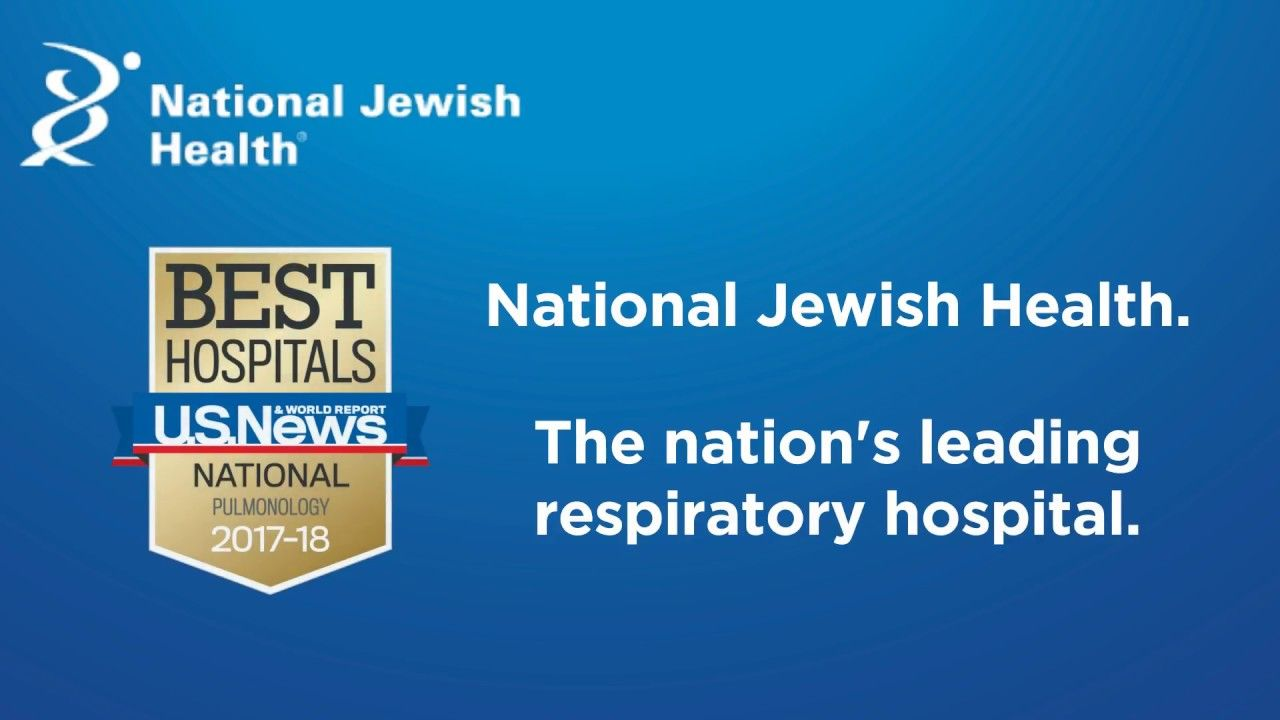 National jewish health has been ranked 1 in pulmonology