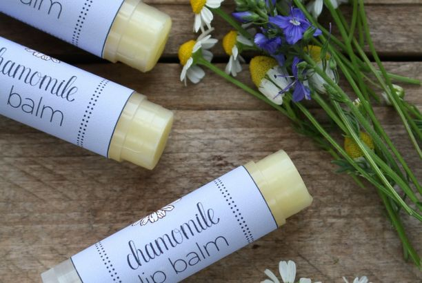 Soothing Chamomile Lip Balm (with printable labels)