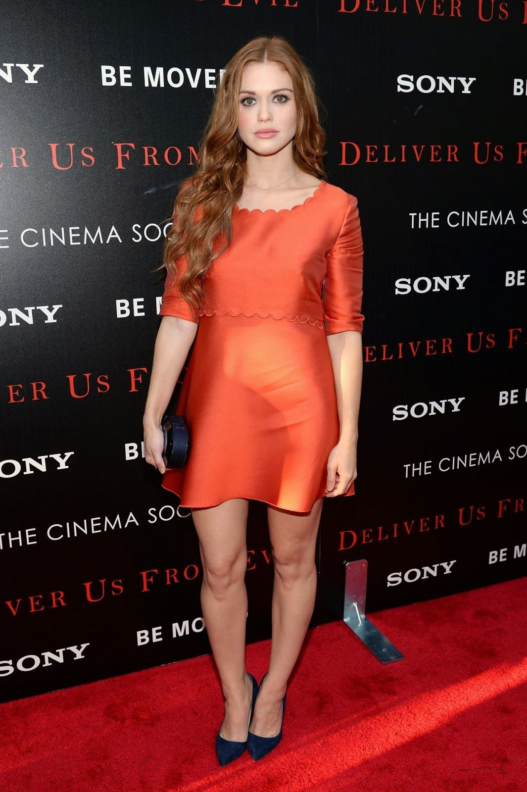 Holland roden at the udeliver us from evilu screening in nyc