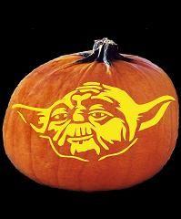 Spookmaster yoda pumpkin carving pattern random pumpkin carving