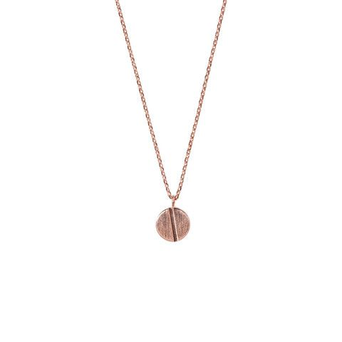 Screw Stud Rose Gold Necklace