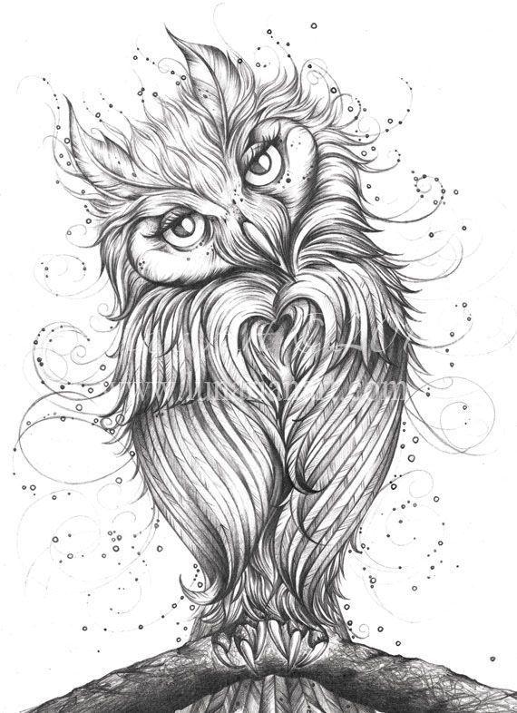 Черно белый эскиз тату с цветами: Эскизы татуировок сов • Значение тату с совой