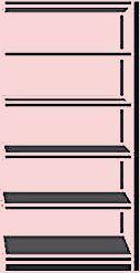 Schulte Zusatz Hochleistungsregal Silber SchulteSchulte   – shelf decor bedroom