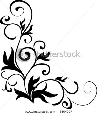 Beautiful Designs best and beautiful black and white floral corner borders and