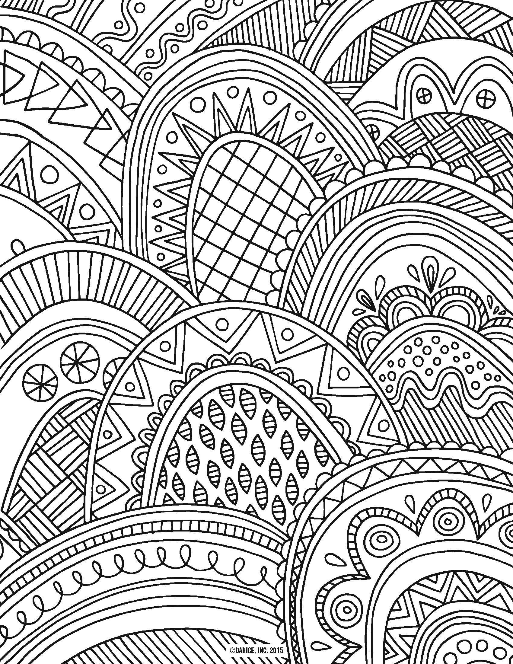 Try Out The Adult Coloring Book Trend For Yourself With Our 9 Free Pages Printable