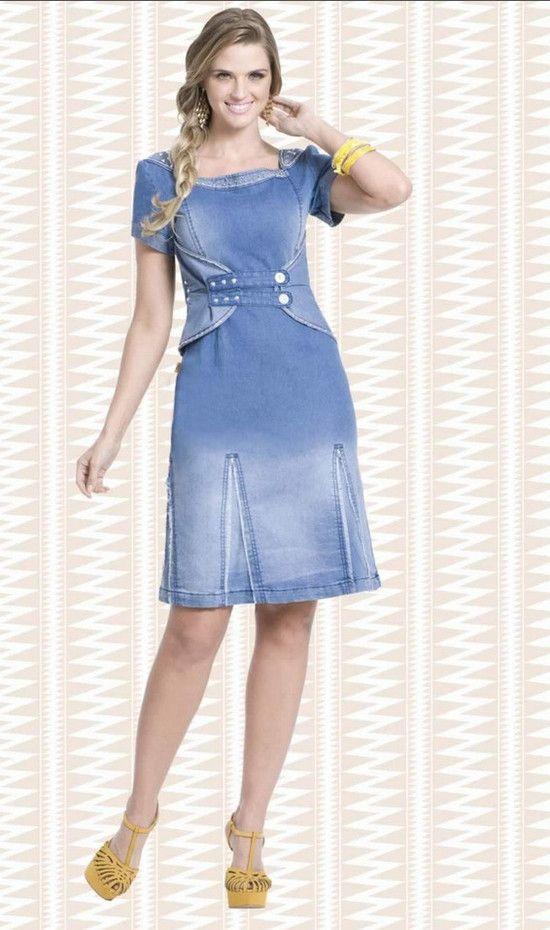 a8bd89fc513c vestido-jeans-lavado-raje-jeans-moda-evangelica | gestante | Vestido ...