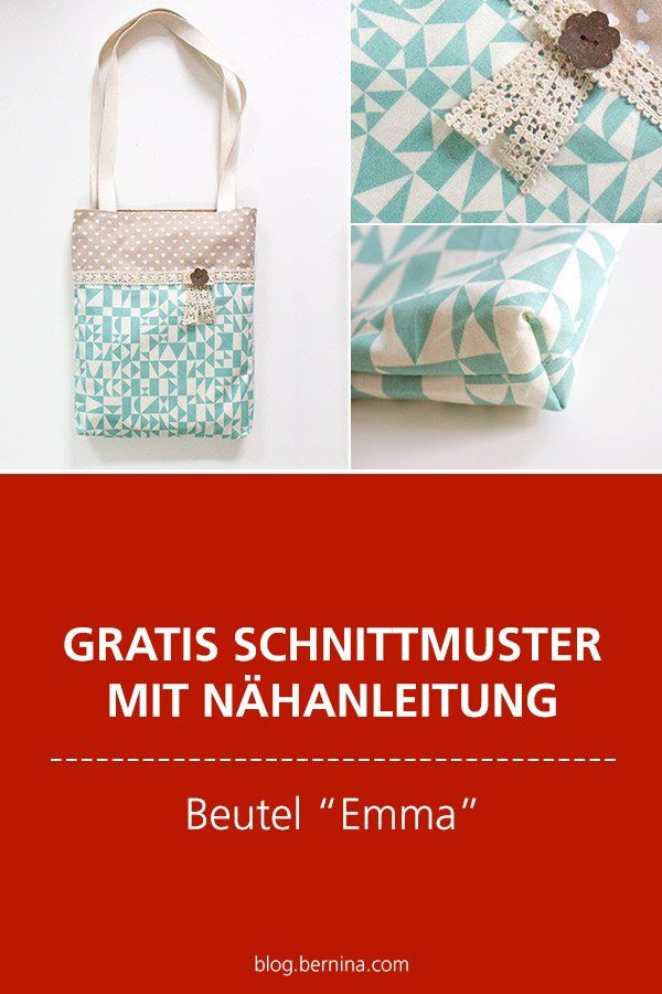 """Photo of Free sewing patterns & sewing instructions: """"Emma"""" bag"""