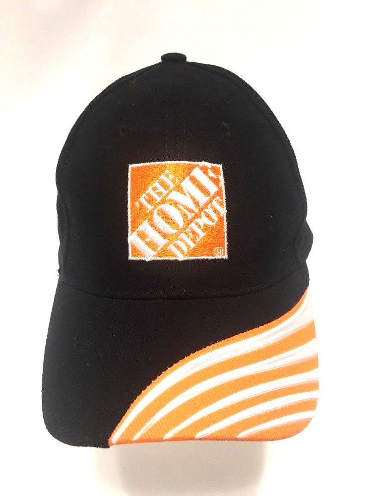 39d005efaf9 Home Depot Hat Embroidered Orange Logo Two Tone Bill Strapback Baseball Cap   BDA  BaseballCap