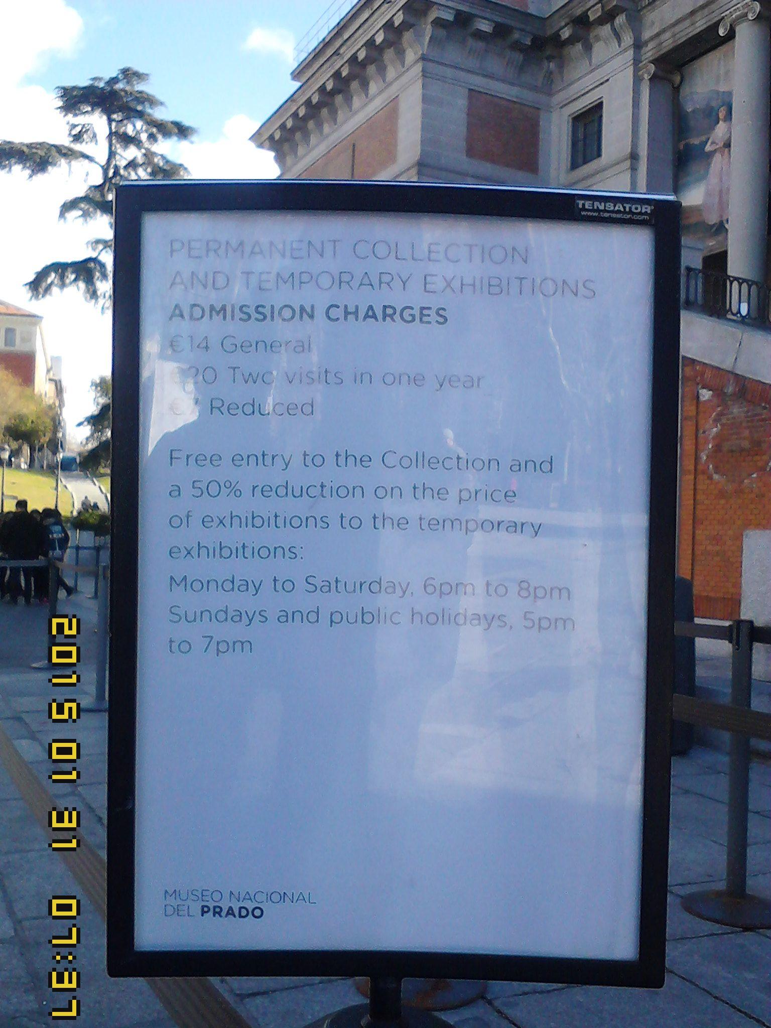 Letreros claros y precisos en todos los sitios que permiten al turista informado.