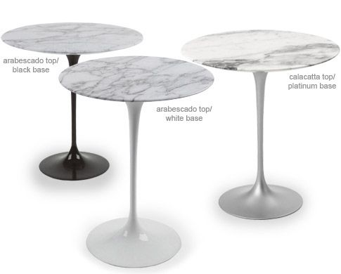 Saarinen Side Table Carrara Marble   Hivemodern.com