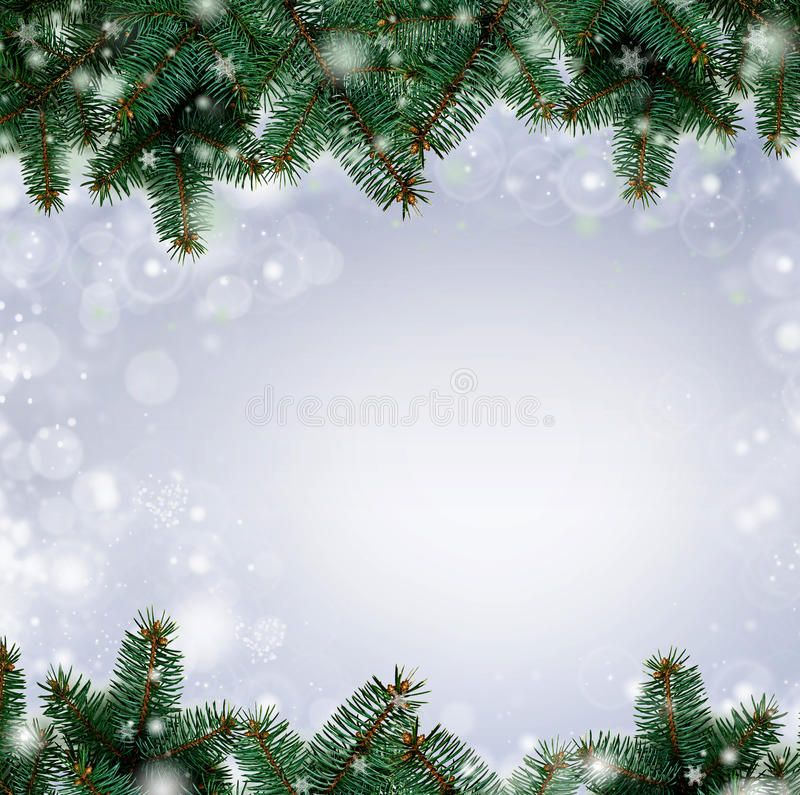 Christmas Tree Branches Border Over White Background With Sample Text Fresh G Ad Border White Background Christ Christmas Tree Branches Leaf Images Tree Branches