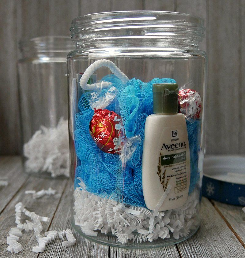 Spa In A Jar Gift Made With A Spa Week Gift Card Spa Treats A Jar And Christmas Bling It S The Perfect Gift For Teachers Spa In A Jar Jar Gifts