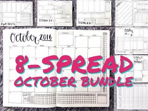 October 8-Spread Planner Bundle