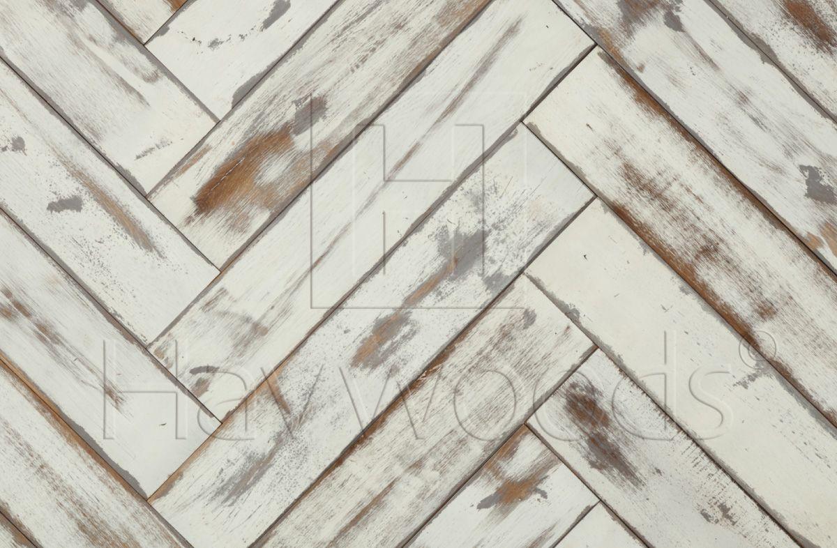 RECM4146 Graphic Reclaimed Solid Oak Herringbone Painted Wood ...
