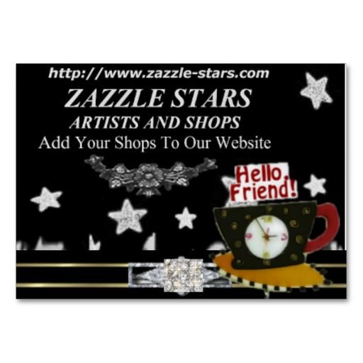Zazzle stars promo cards business card template business cards zazzle stars promo cards business card template wajeb Choice Image