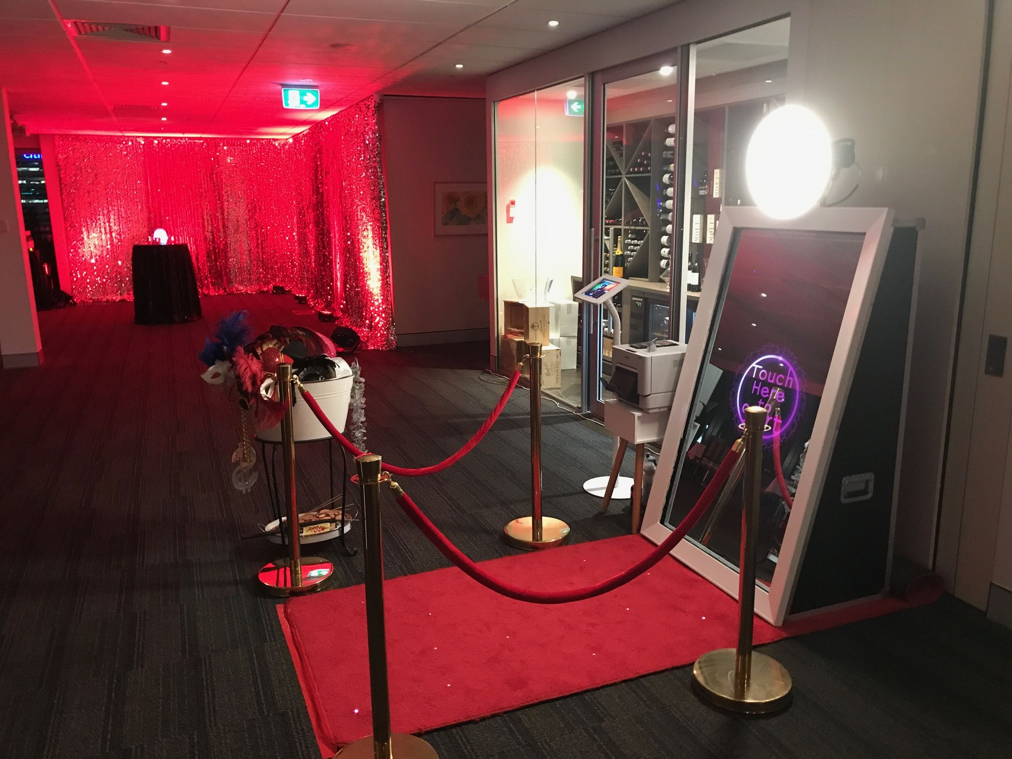 Perth's First Magical selfie mirror hire the Mirror Me Booth