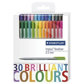 30 Felt Tips School Colouring Childs Gift Scrapbooking Marker Pens Ink UK